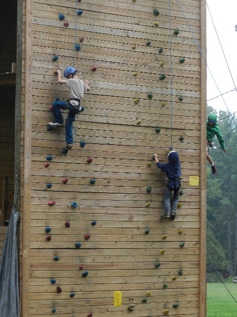 Climbing Wall at Ockanickon Scout Reservation